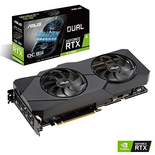 ASUS  GeForce RTX 2070S DUAL EVO OC 8G Super Gaming Grafikkarte (PCIe 3.0, 8GB DDR6 Speicher, HDMI, Displayport, USB Type-C) -