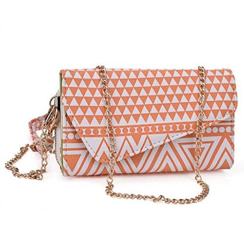 Kroo Pochette/étui style tribal urbain pour Smart Flo à épices 359(mi-359) Multicolore - Rose Multicolore - White and Orange