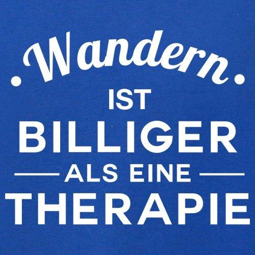 Wandern ist billiger als eine Therapie - Herren T-Shirt - 13 Farben Royalblau