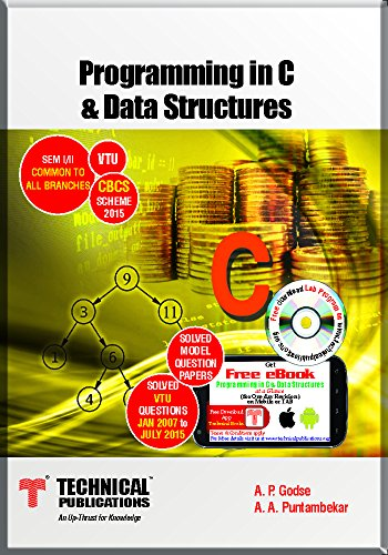 Programming in C & Data Structures for VTU (I/II-COMMON-2015 course)