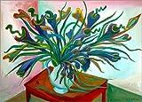 Posterlounge Leinwandbild 130 x 90 cm: Die fleischfressende Pflanze von Diego Manuel Rodriguez - fertiges Wandbild, Bild auf Keilrahmen, Fertigbild auf Echter Leinwand, Leinwanddruck