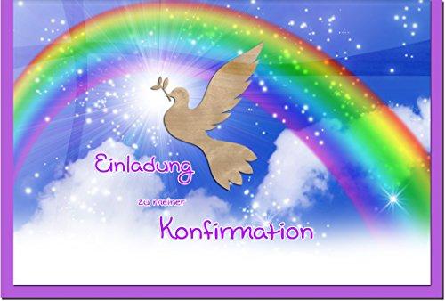 """metALUm Einladungskarten zur Konfirmation (25 er Set)""""Regenbogen"""""""