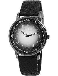 Trend de Wares de mujer reloj de pulsera Negro Plata de Titanio Look analógico de cuarzo metal piel mujer reloj