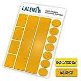 Laleni 13 teiliges Reflektor Set - Reflektoren selbstklebend, Aufkleber für Kinder, Kinderwagen,  3er Set, gelb