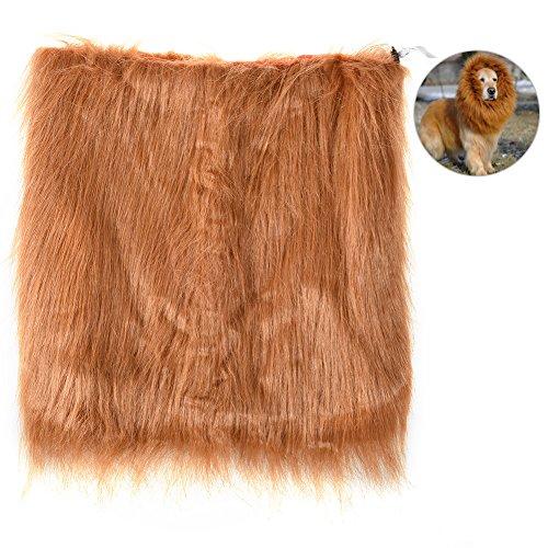 ähne Perücke Einstellbare Lion Mähne Kostüm Lebensechte Haustier Kostüm Lion Mähne Perücke Schöne Haustier Halloween Kostüme, geeignet für Mittlere und Große Ha (Vorhanden Halloween-kostüm)