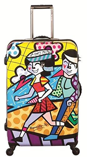. 50% SCONTO PREMIUM DESIGNER Valigia Rigida - Heys Artisti Britto Spring Love Trolley con 4 Ruote Grande