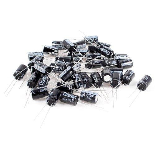 40pcs 470uF 16V 105C Radial elektrolytischen Kondensatoren schwarz 8x 12mm C-map Pc