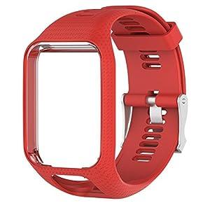 Silikon-Ersatzarmband, Armbanduhr, Länge 25 cm, für TomTom 2/3 Serien, GPS-Uhr
