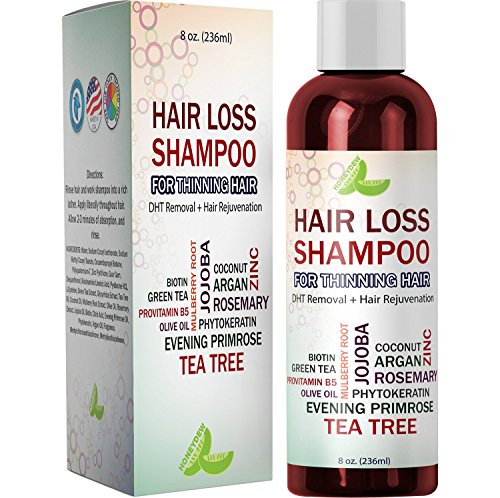 Best Hair Loss Shampoo Potent Hair Loss Fighting Formula 100{bf1d17bec74dcdd8bff1d135d27c8dc14bec8ae160617bbe5173786cfa6f21d9} Natural Topical Regrowth Treatment Restores Hair Stops Hair Shedding Contains Biotin Rosemary Coconut Oil For Women and Men by Honeydew