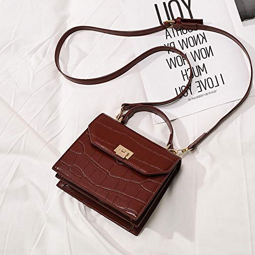 XMY Women's Bag Messenger Bag small Square Bag wild Shoulder Bag, Wine red -
