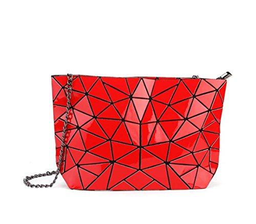 Flada, Borsa tote donna rosso Red medium Red