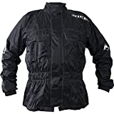 "Richa Rain Warrior Veste moto en tissu noir Noir 48"" (3XL)"