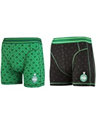 Lot de 2 boxers ASSE - Collection officielle AS SAINT ETIENNE - Taille adulte homme