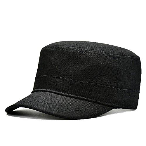 uomini-ragazzi-moda-autunno-inverno-berretto-casquette-berretto-militare-nero
