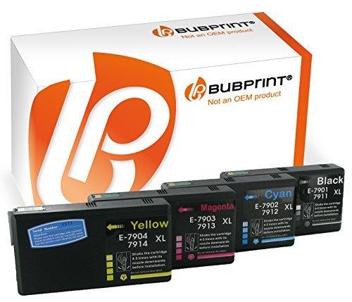 Bubprint 4 Druckerpatronen kompatibel für Epson 79XL 79 XL für WorkForce Pro WF 4630 WF-4630 DWF 4640 DTWF 5110 DW 5190 5620 WF-5620DWF 5690 Multipack (Epson Pro 4630 Workforce Drucker)