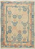 Nain Trading Kelim Afghan Heritage 331x251 Orientteppich Teppich Dunkelgrau/Hellblau Handgewebt Afghanistan