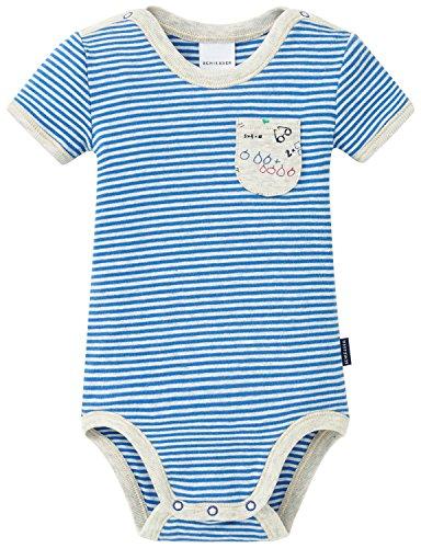 Schiesser Baby-Jungen Body 1/2, Blau (Blau 800), 86 (Herstellergröße: 086)