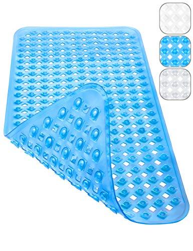 Homerella Badewannenmatte maschinenwaschbar 88x39cm | Antirutschmatte Badewanne BPA frei & latexfrei | Badewanneneinlage schimmelresistent | Badematte rutschfest