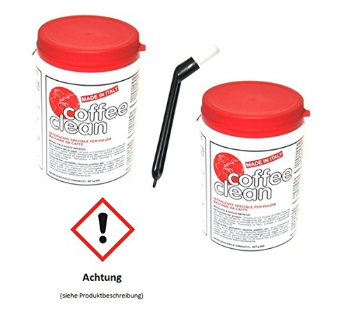 Coffee Clean Kaffeemaschinenreiniger 2er + Reinigungsbürste