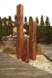 Säulenset Barocco Säule Set Edelrost Rost Romantik Gartendeko Garten Edelstahl - Kugel