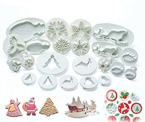 HENGSONG 22 Pcs Noël Gâteau Fondant Moule Biscuits Printemps Gaufrage de Meurt Bakeware Plastique Outils de Cuisson Cooker Set