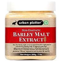 Urban Platter Non-Diastatic Barley Malt Extract, 200g / 7oz [Premium Quality, Bake-Friendly]