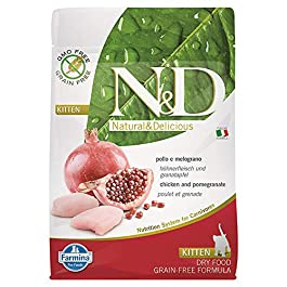 N&d low grain N&D N& d Grain Free Kitten con Pollo e Melograno Secco Gatto gr. 300, Multicolore, Unica