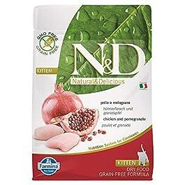 N&d low grain N&D N& d Grain Free Kitten con Pollo e Melograno Secco Gatto gr. 300, Multicolore, Unica