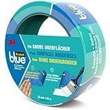 Scotch Blue 20963625 Malerabdeckband (Malerkrepp) optimale Klebkraft auf groben Oberflächen, 36 mm x 25 m, blau