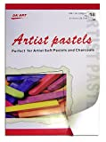 18 Blatt DIN A4 Zeichenblock, ideal für das Arbeiten mit Pastellkreiden & Zeichenkohle, Grammatur: 120g/m²