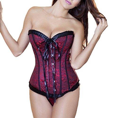 EVAbaby Exotisches Korsett, Strapsgürtel, Dessous-Set für Damen, Übergröße, Spitze, Nachtwäsche. -  -  Large - 2