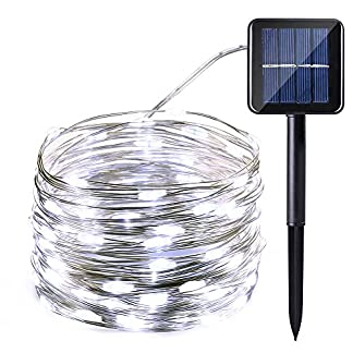 Guirnalda Luces Exterior Solar 10M 100 LED