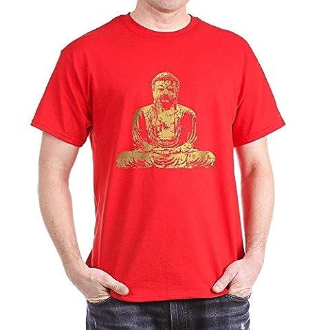 CafePress - Buddha Graphic Dark T-Shirt - 100% Cotton T-Shirt