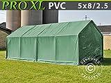 Dancover Lagerzelt Zeltgarage Garagenzelt PRO 5x8x2,5x3,3m, PVC, Grün