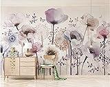 BHXINGMU Murales Personalizados Sofá De La Sala De Estar Tv De Fondo Floral Abstracto Decoración De Pared De Arte Grande 270Cm(H)×370Cm(W)