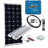 100W Wohnmobil Solaranlage Mono Victron MPPT 12V Solar Set Laderegler Solarmodul Komplettanlage
