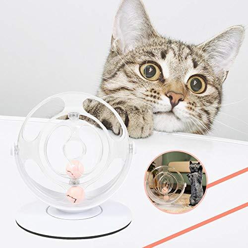MOGOI Interaktives Katzenspielzeug, verbesserte Drehscheibe mit Spuren, 360 Grad drehbar, interaktives Spielzeug, Katzenminze Bälle mit Rollbällen - verbessert die mentale Simulation (Gleise Elektronische)