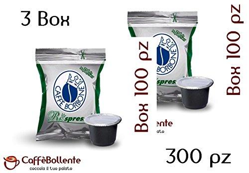 Caffè Borbone - Miscela Verde / Dek - Capsule compatibili Nestlé Nespresso - 300 pz (3x100) 214