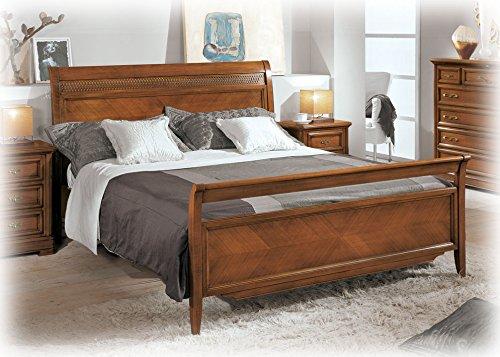 Bett 2 Schlafplätze Fischgräten Kirsche