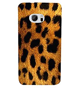 FUSON Leopard Texture Fur Background 3D Hard Polycarbonate Designer Back Case Cover for HTC 10 :: HTC One M10