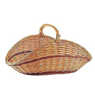 Aubry Gaspard AG1360 Log Basket - Buff Wicker - 68 cm