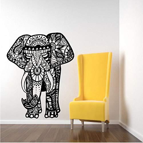 Hlfymx Tres Elefantes Tatuajes De Pared De La India Mandala Buda Om...