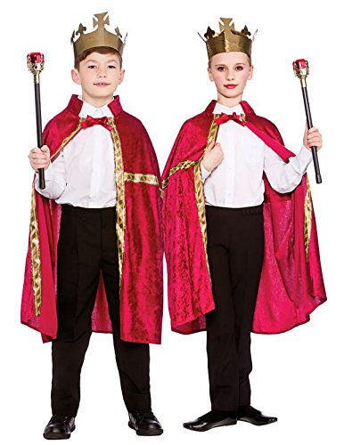 Deluxe King/Queen Robe & Crown Burgundy (8-10) **NEW** (Kind Red Robe Kings)