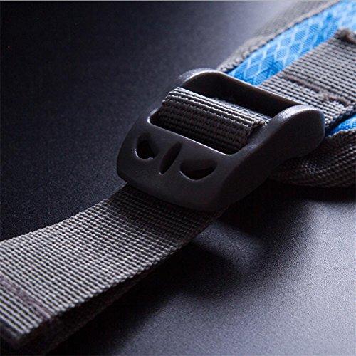 Borsa sportiva esterna multifunzionale sacchetto di arrampicata impermeabile in nylon 20L , dark blue Orange