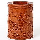 KIKIXI Holzschnitzerei Kunsthandwerk Mahagoni Ornamente Rot Kugelschreiber Werbegeschenke Die Gelehrten Vier Juwelen Songhe Krankheit