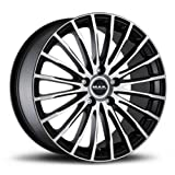 MAK Starlight Black Ice 7.5 x 18 5 x 112 ET52 Hub Bore 66.6 cerchi in lega