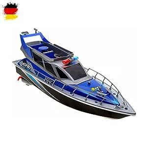RC ferngesteuertes Polizeiboot Küstenwache Schiff, Ready-to-Run, 430mm, inkl. Akku, Ladegerät, Zubehör, Top-Design