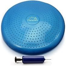 CampTeck U6765 Cojin Equilibrio Disco Vestibular Inflable con Bomba Mejorado de Mano para el Entrenamiento del