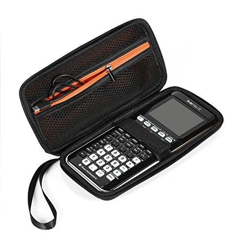 Pixnor für Grafikrechner Texas Instruments TI-84/Plus CE Hard Eva stoßfest mit Fall Aufbewahrungsbox Fall Tasche aus PU-Box - Plus Ti 84 Silver C