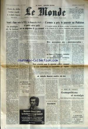 MONDE (LE) [No 10087] du 06/07/1977 - CH...